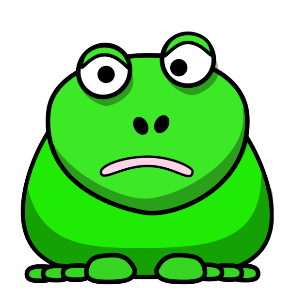 Confused Cartoon Frog PNG Clip art