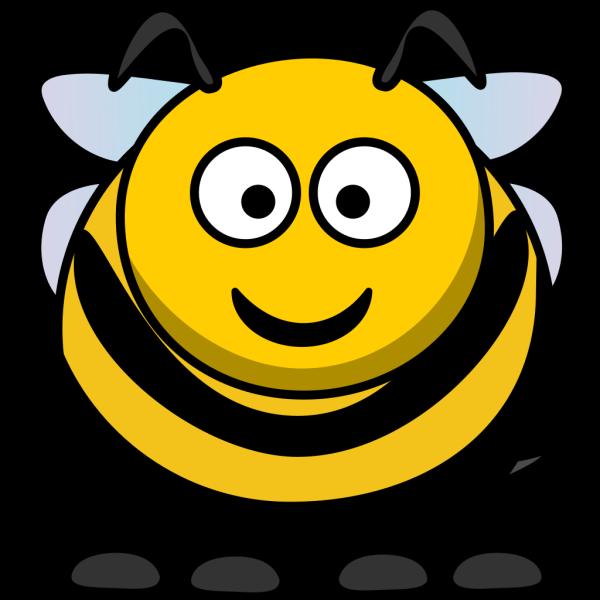 Round Cartoon Bee PNG Clip art