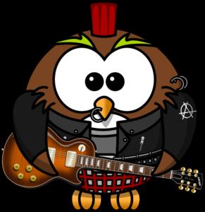 Owl Rock Star PNG Clip art