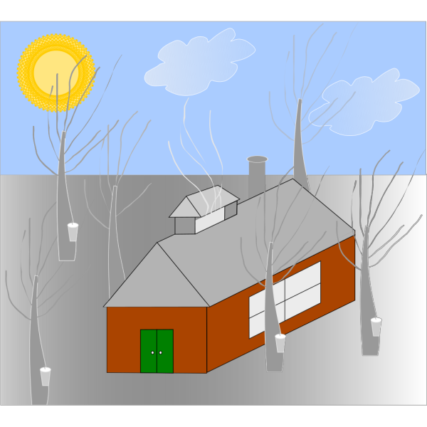 Cabin In The Mountains PNG Clip art