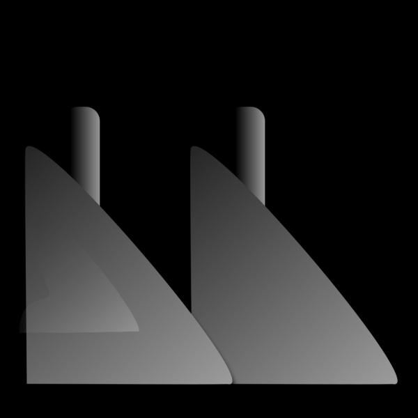Two Smokestacks PNG Clip art
