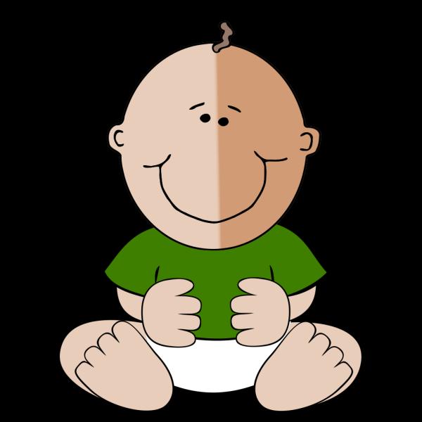 Sitting Baby Green Shirt PNG Clip art