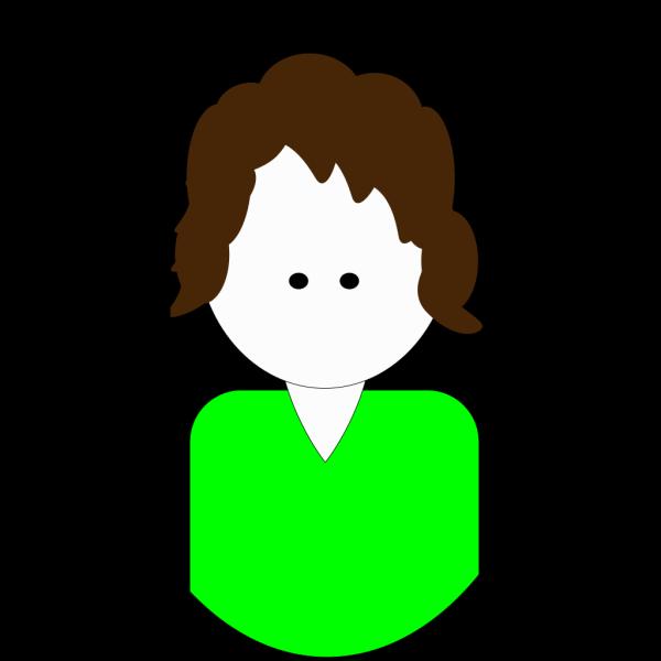 Mom Cartoon (green) PNG Clip art