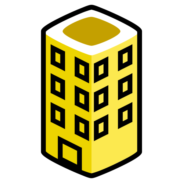 Yellow Building PNG Clip art
