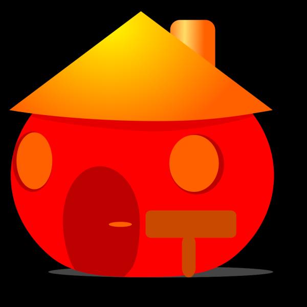 Small Orange Home PNG Clip art