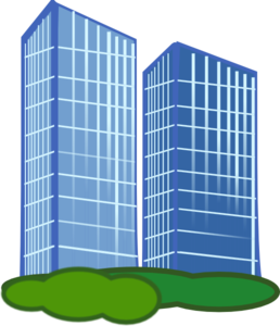Pair Of Apartment Buildings PNG images