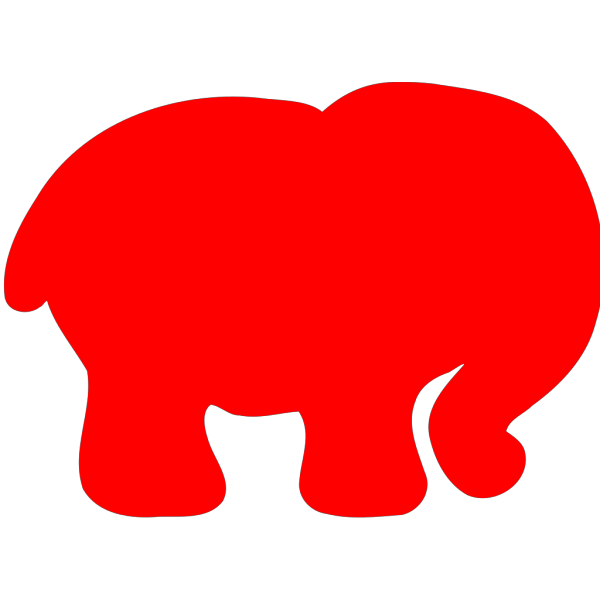 Red Elephant PNG Clip art