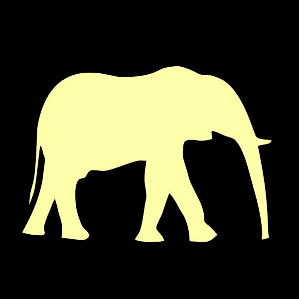 Yellow Elephant PNG Clip art