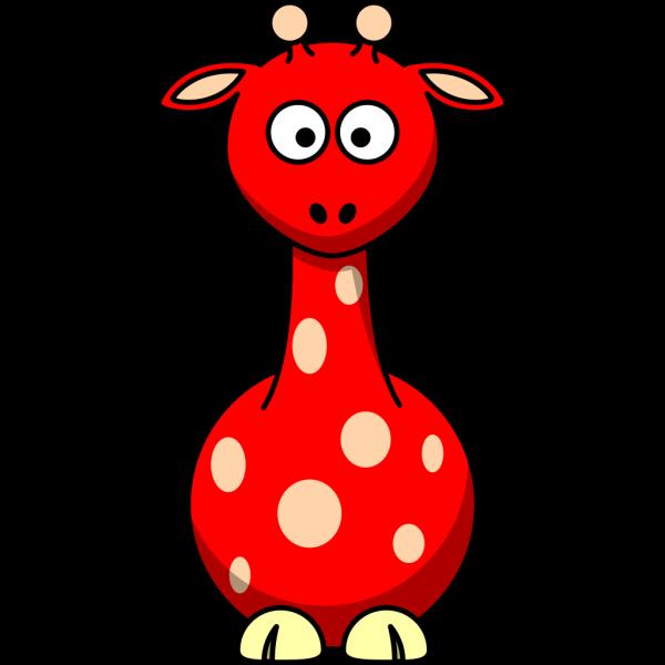 Red Giraffe PNG Clip art