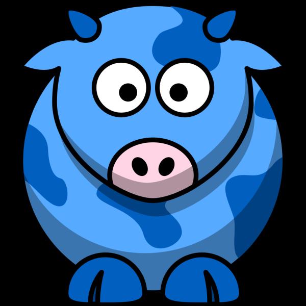 Blue Cow 2 PNG Clip art