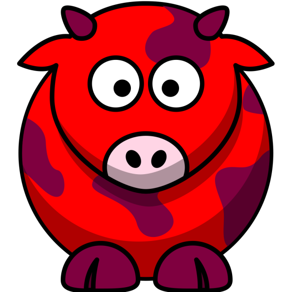 Red Cow 2 PNG Clip art