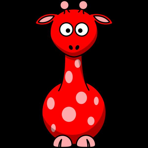 Red Giraffe 2 PNG Clip art