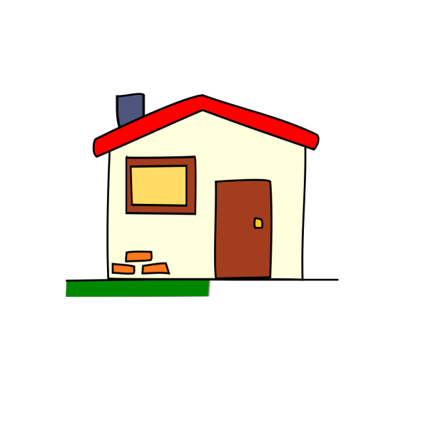 Home With Bricks Icon PNG Clip art
