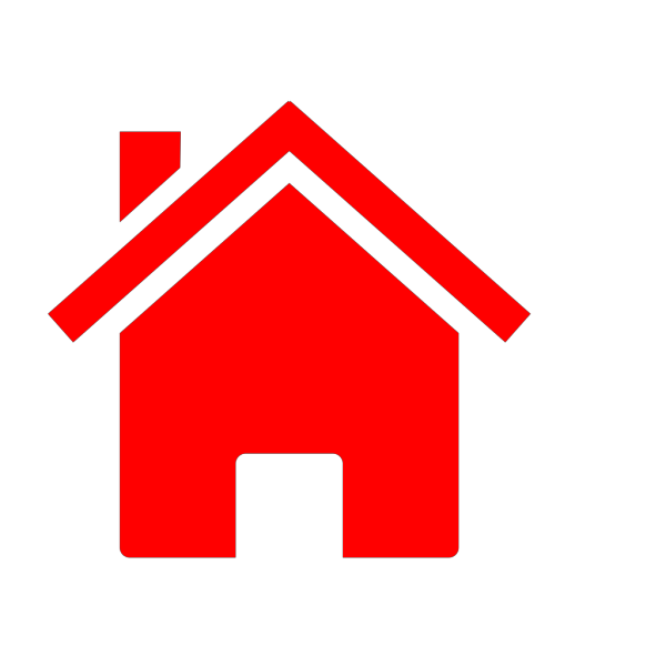 Small Red House Icon PNG Clip art