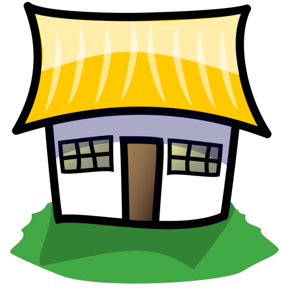 Home With Large Yellow Roof PNG Clip art