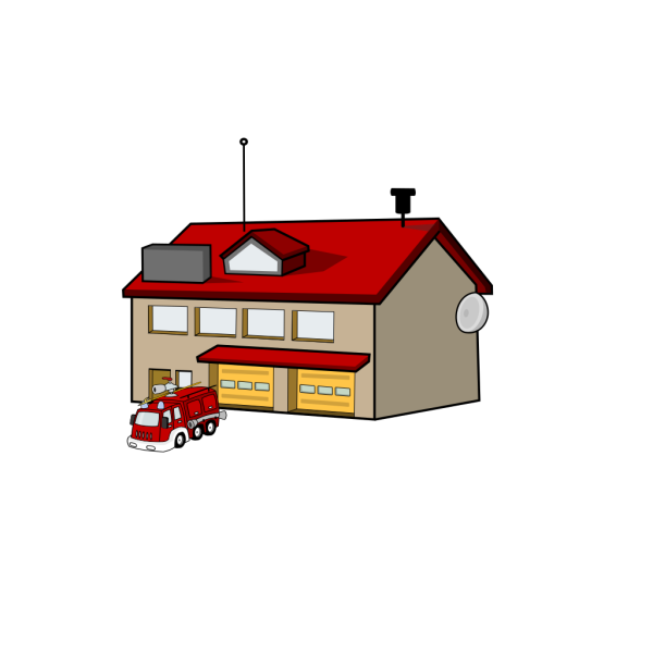 Cartoon Fire Station PNG Clip art