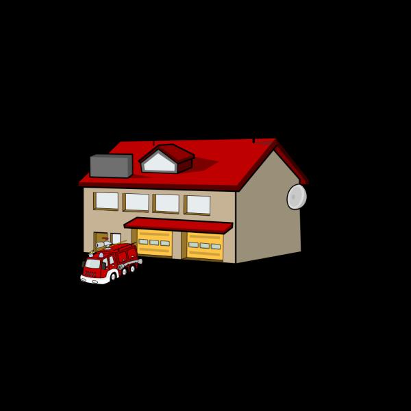 Cartoon Fire Station PNG Clip art