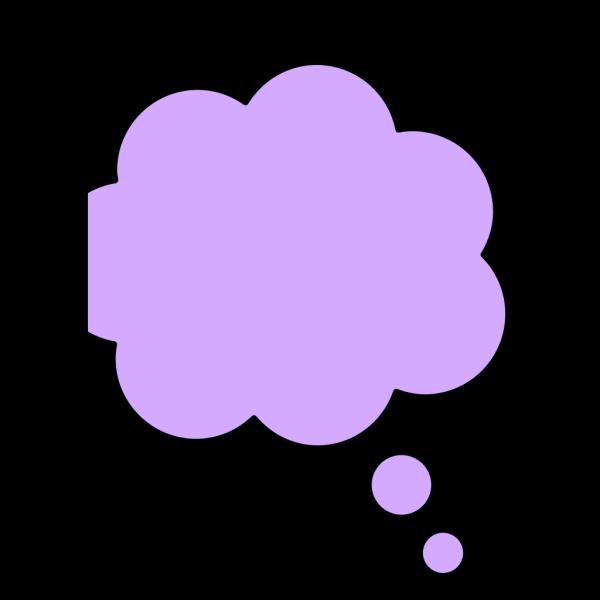 Thought Bubble Purpl PNG Clip art