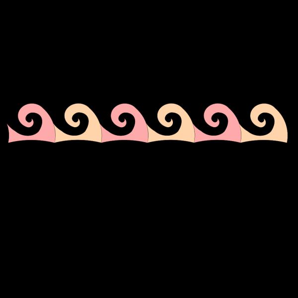 Coralpeachwaves PNG Clip art