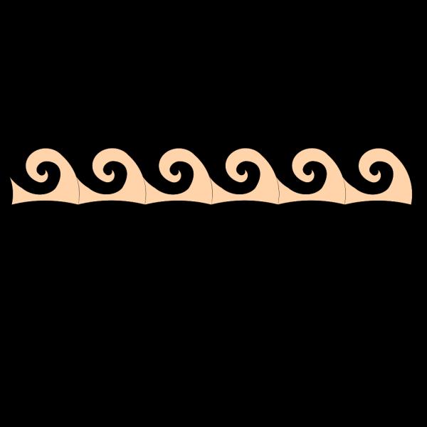Peachwaves PNG Clip art