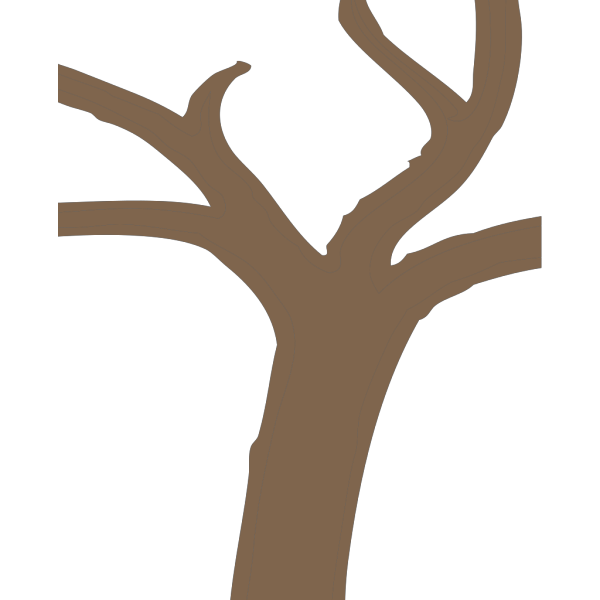 Dark Tree Trunk PNG Clip art