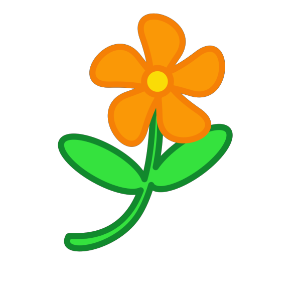 Orange Cartoon Flower PNG Clip art