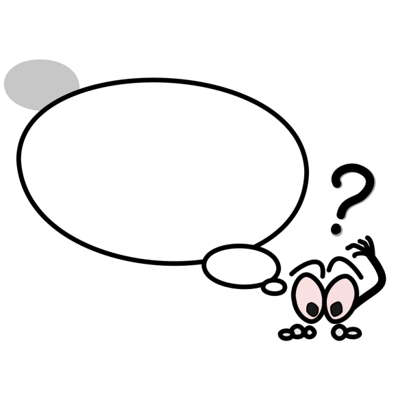 Speech Bubble With Confused Person PNG Clip art