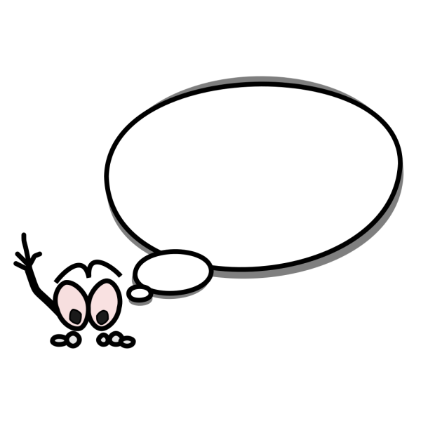 Speech Bubble With Person Pointing Up On Left PNG Clip art