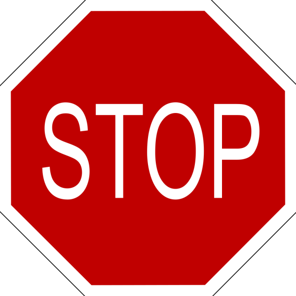 Speech Bubble With Stop Sign PNG Clip art