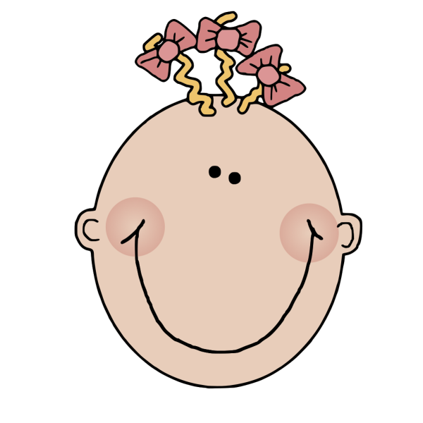 Cartoon Baby Girl Face PNG Clip art