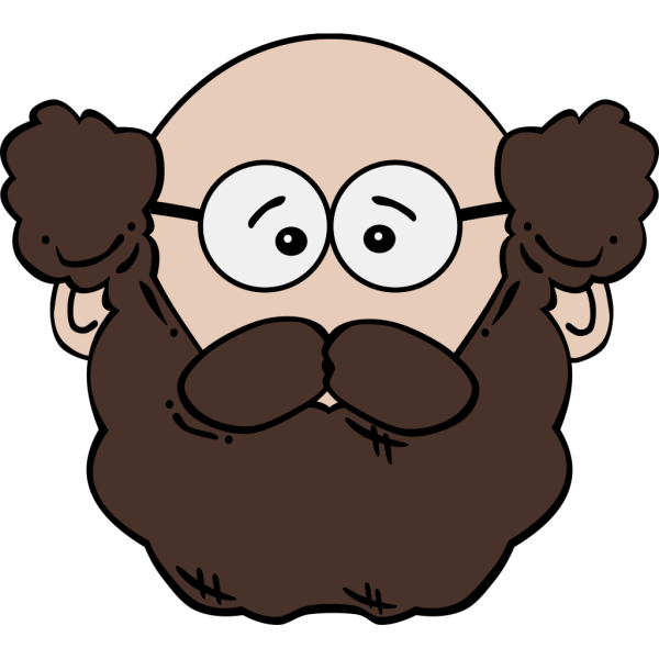Balding Man With Mustache And Beard PNG Clip art