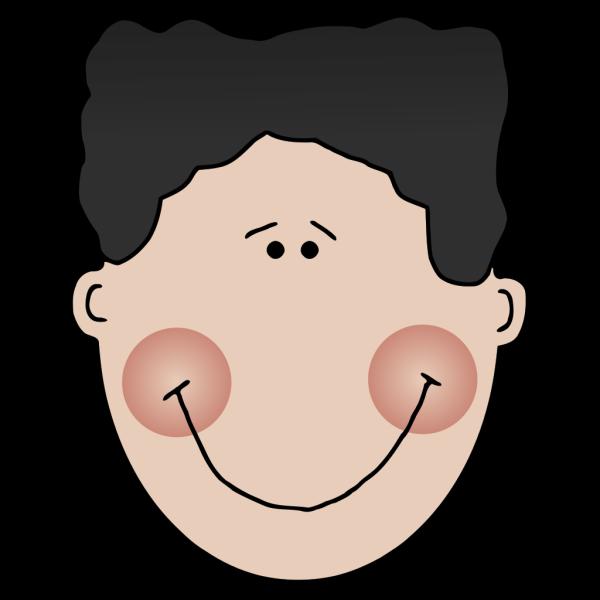 Blushing Cartoon Boy Face PNG Clip art