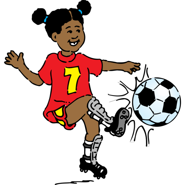 Girl Playing Soccer PNG Clip art