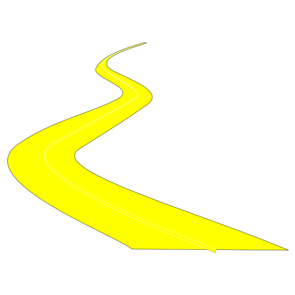 Curved Road PNG Clip art