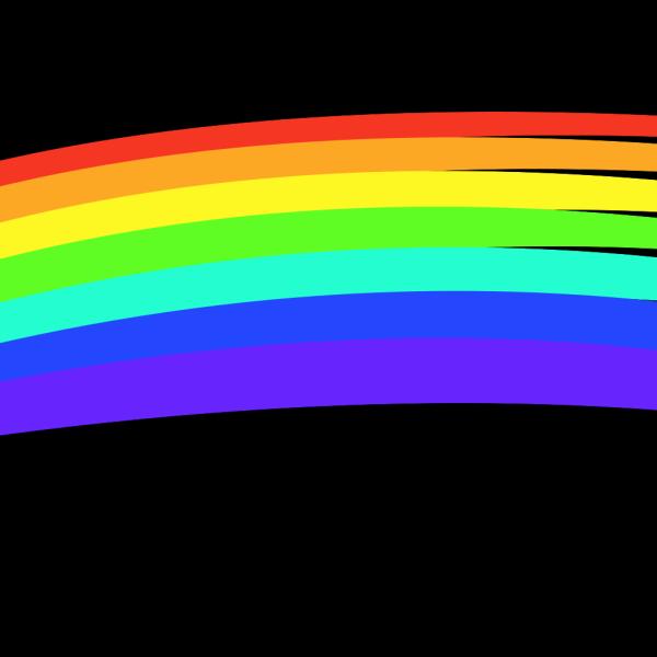 Long Rainbow PNG Clip art