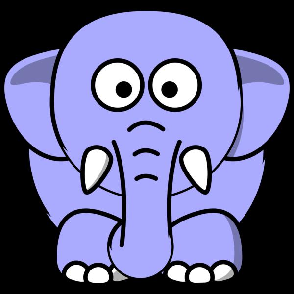 Periwinkle Elephant PNG Clip art