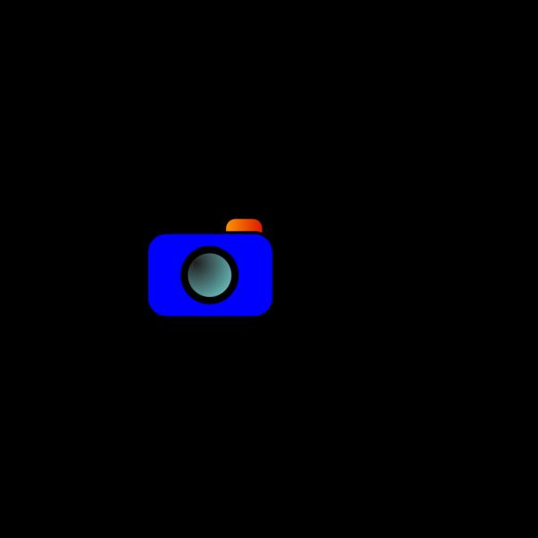 Cartoon Camera Blue PNG Clip art