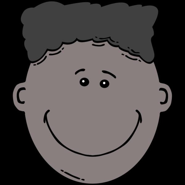 Smiling Boy Face Cartoon PNG Clip art
