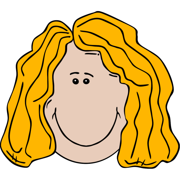 Blonde Lady Face Cartoon PNG Clip art