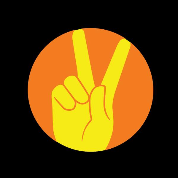 Alien Making Peace Sign PNG Clip art