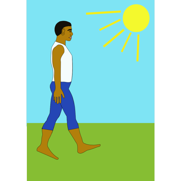 Man Walking In The Sun PNG Clip art