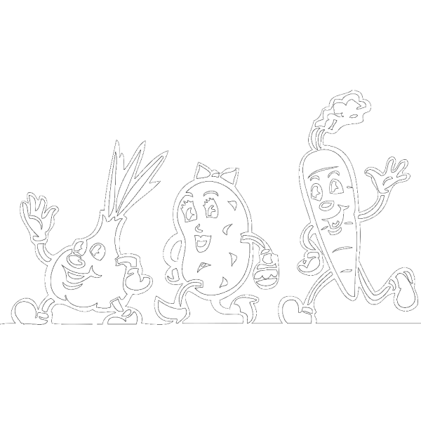 Running Vegetables PNG Clip art