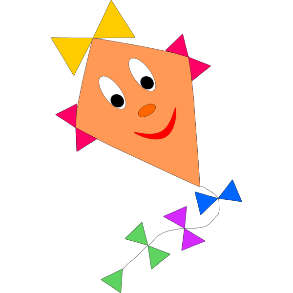 Smiling Kite PNG Clip art
