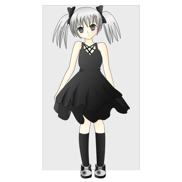 Anime Girl With Silver Hair PNG Clip art