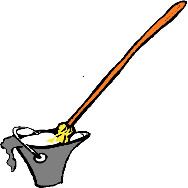 Cartoon Mop And Bucket PNG Clip art