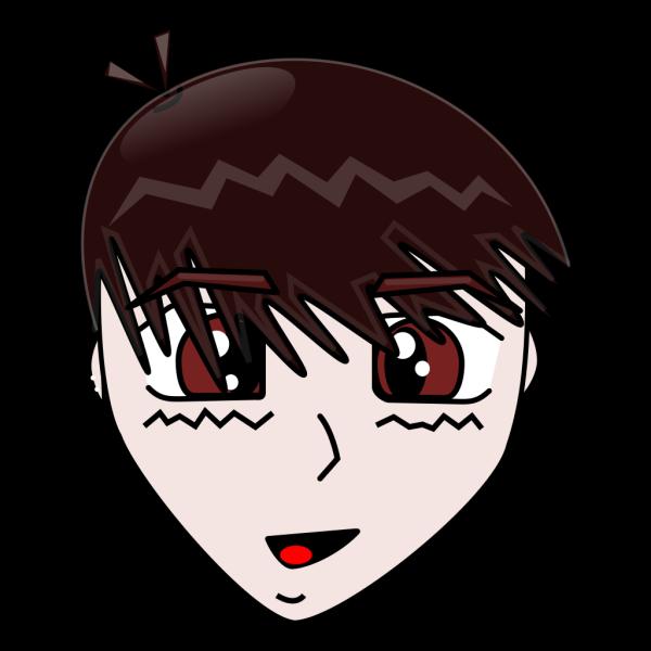 Male Manga Face PNG Clip art