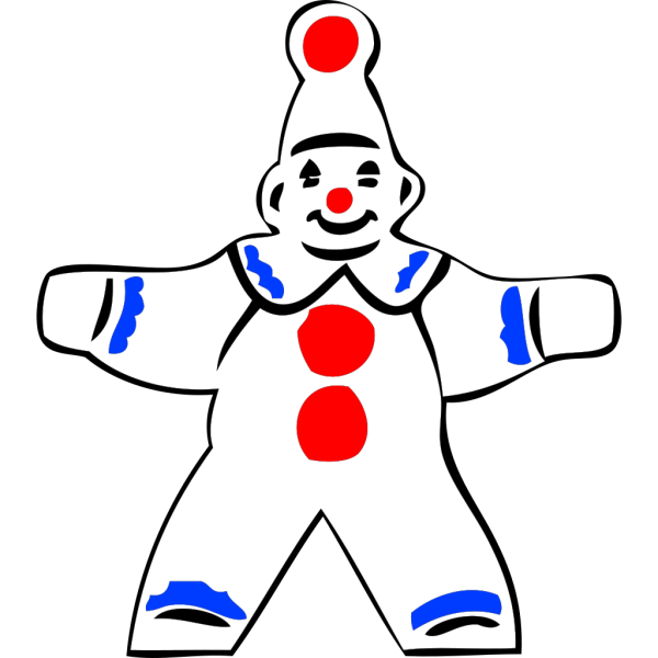 Simple Clown Figure PNG icons