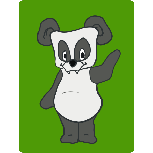 Friendly Panda Cartoon PNG Clip art