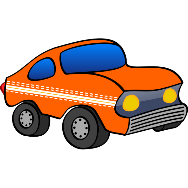 Orange Cartoon Car PNG Clip art
