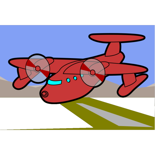 Red Plane PNG Clip art